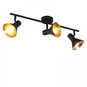 Moderne spot zwart 3-lichts - Magno