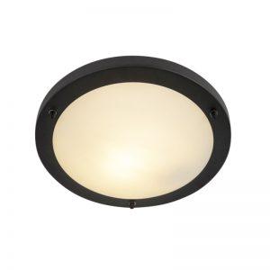 Moderne ronde badkamer plafonniere zwart - Yuma 31