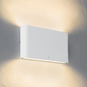 Moderne buitenwandlamp wit 17,5cm incl. LED - Batt