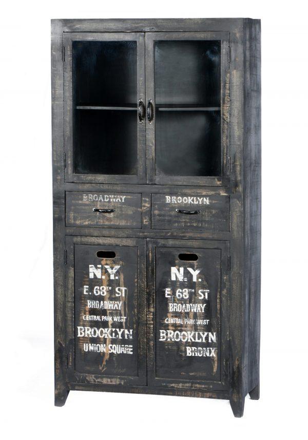 Artistiq Vitrinekast 'Bronx', 90 x 180cm