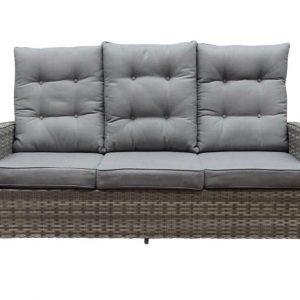Ibiza XL bijzettafel - voetenbank 63x55xH43 cm wit grijs