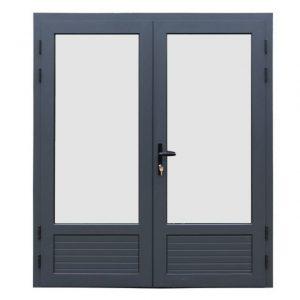 Fonteyn Aluminium dubbele deur 3/4 glas