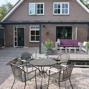 Aluxe Topline veranda met glas 4000x3500