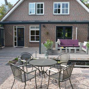 Aluxe Topline veranda met platen 7000x2500