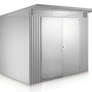AvantGarde Biohort met dubbele deuren L zilver metallic