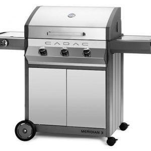 Barbecue Cadac Meridian - RVS 3 Brander met Zijbrander
