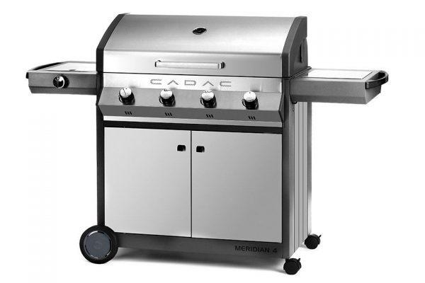 Barbecue Cadac Meridian - RVS 4 Brander met Zijbrander