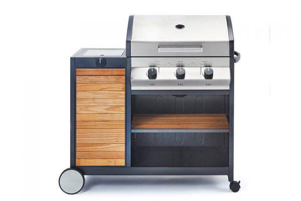 Barbecue Cadac Meridian Woody 3B+zijbrander 30mbar