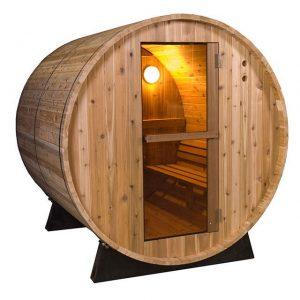 Barrel Sauna Rustic 4 ft. - Fonteyn