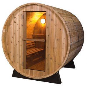 Barrel Sauna Rustic 6 ft. - Fonteyn