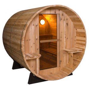 Barrel Sauna Rustic 7+1 ft. - Fonteyn