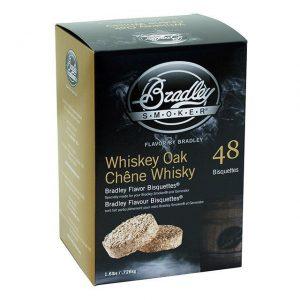 Bisquettes Whiskey Oak - 48 Pack - Bradley Smoker