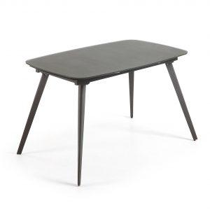 Kave Home Uitschuifbare Eettafel 'Smoth' 120 - 180cm, kleur antraciet