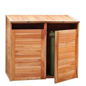 Containerberging Dubbel Tuindeco hardhout 150 x 75 x 135 cm