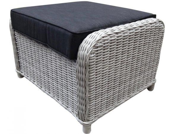 Bilbao XL bijzettafel - voetenbank 72x59xH46 cm wit grijs