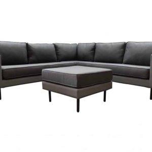 Sensoo hoek loungeset 4-delig antraciet textileen