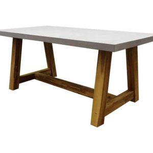 Veltis dining tuintafel 180x90xH77 cm acaciahout - polystone blad