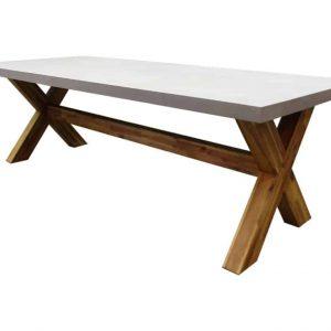 Norwich dining tuintafel 300x100xH77 cm acaciahout - polystone blad