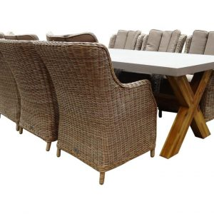 Norwich Darwin Deluxe dining tuinset 240x100xH77 cm 7-delig kobo grijs