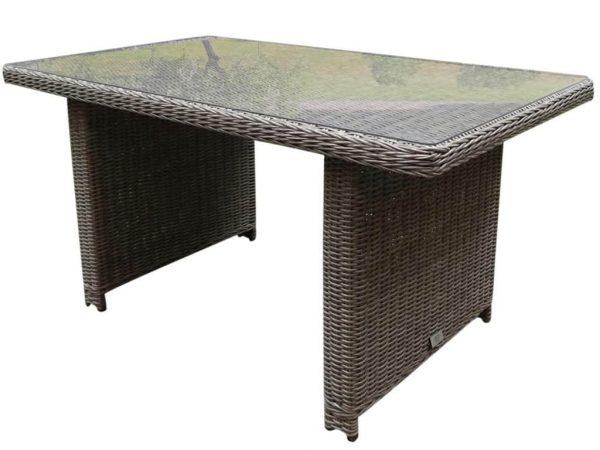 Bilbao XL lounge-diningtafel 140x80xH70 cm kobo grijs