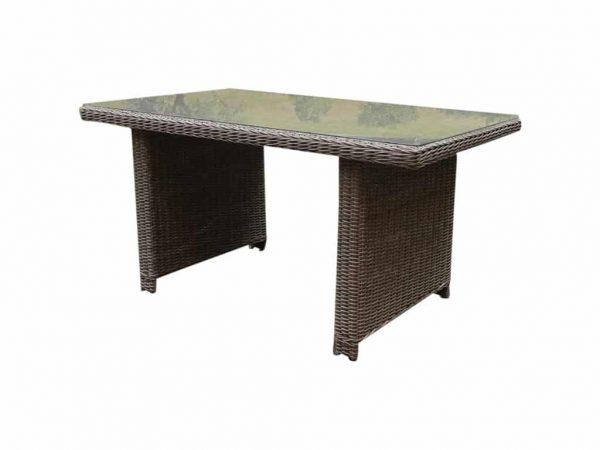 Bilbao XL lounge-dining tafel 110x110xH70 cm kobo grijs
