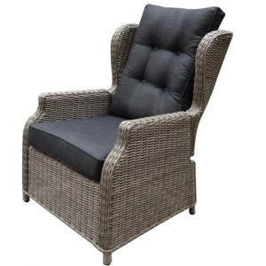 Toscane XL lounge tuinstoel verstelbaar kobo grijs