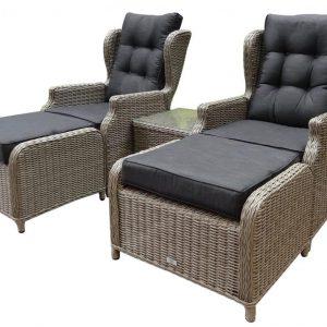 Toscane XL lounge balkonset verstelbaar 5-delig kobo grijs