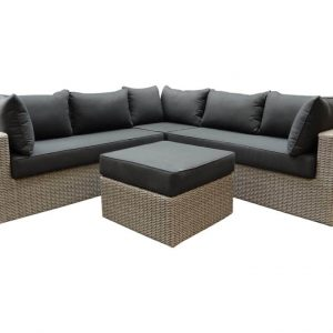 Patros hoek loungeset 4-delig kobo grijs