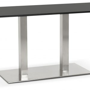 Tafel Ø57 Marmer H38 Deck Zwart Single Wit Onderstel f76yYgb