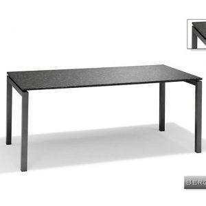 Nvt Eettafel-Tuintafel 160 x 90 x 75 cm Bergamo - Aluminium-Natuursteen - Studio 20