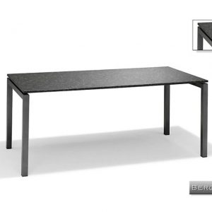 Nvt Eettafel-Tuintafel 180 x 90 x 75 cm Bergamo - RVS-Natuursteen - Studio 20