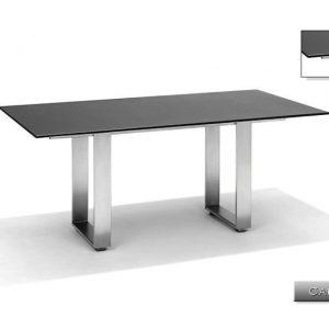 Nvt Eettafel-Tuintafel 200 x 100 x 75 cm Capri - RVS-Natuursteen - Studio 20