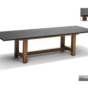 Nvt Eettafel-Tuintafel 240 x 100 cm Voss - Teakhout-Natuursteen - Studio 20