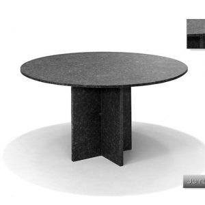 Nvt Eettafel-Tuintafel Rond 120 Ø cm Jutland - Natuursteen - Studio 20
