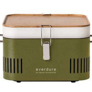 Everdure CUBE Charcoal Portable Barbeque Khaki