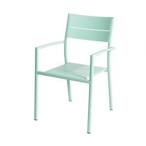 Grace Stacking Chair Alu - Mint - Max & Luuk