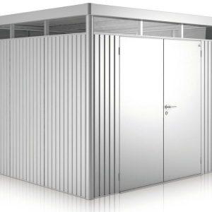 HighLine Biohort met dubbele deuren H2 zilver metallic