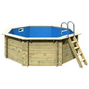 Houten zwembad model 1 A 400 x 400 cm - Karibu