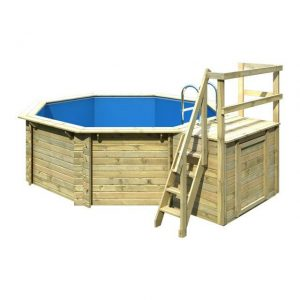 Houten zwembad model 1 B 400 x 480 cm - Karibu