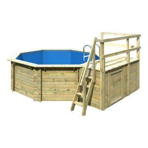 Houten zwembad model 1 C 400 x 480 cm - Karibu