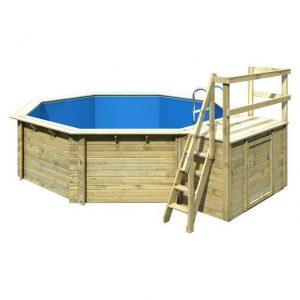 Houten zwembad model 2 B 470 x 550 cm - Karibu