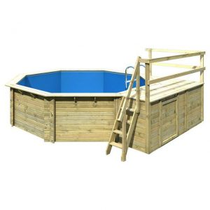 Houten zwembad model 2 C 470 x 550 cm - Karibu