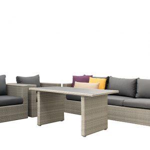 SUNS Lounge-Diningset Alicante White Grey Fonteyn
