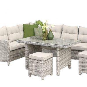Fonteyn Collectie Lounge-Diningset Camden Mixed Grey Fonteyn