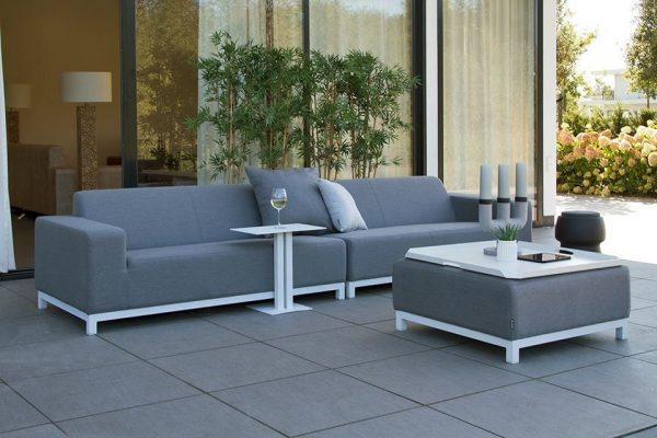 Fonteyn Collectie Loungebank 4-zits Devane Grey Flanel Fonteyn