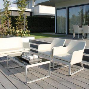 Passion Oudoor Living Loungeset Breeze IJswit Passion Outdoor Living