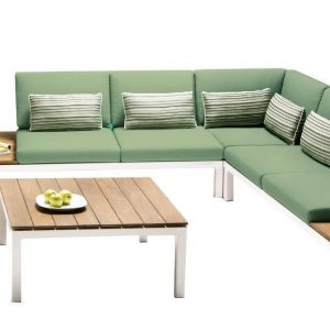 Loungeset Pebble Beach Wit-Forest Apple Bee