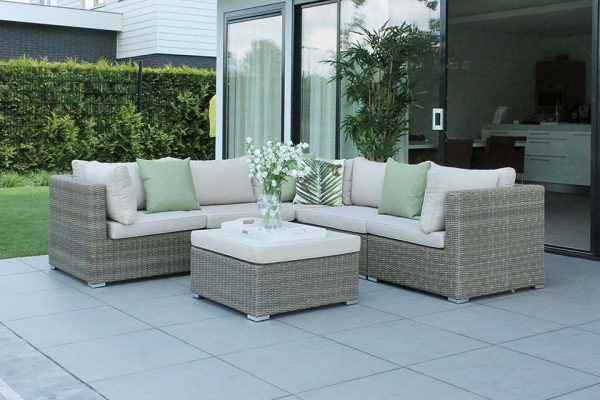 Fonteyn Collectie Loungeset Valencia Sanded Natural Taupe Fonteyn