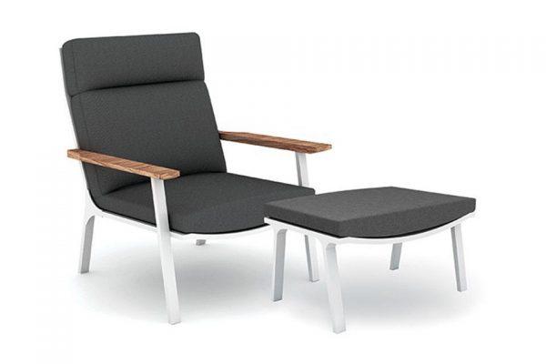 Fonteyn Collectie Loungestoel met Voetenbank Klara Wit Fonteyn