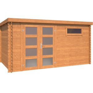 OLP Outdoor Life Products Tuinhuis Alpha 230 Bruin gedompeld